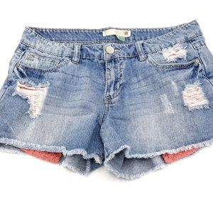 Route 66 Distressed Denim Shorts Size 8